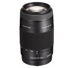 Brand New - Genuine Sony SAL 75-300mm f/4.5-5.6 CS Lens, New in Box