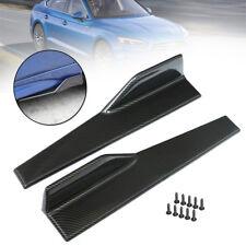 Universal Carbon Fiber Look Side Skirt Rocker Splitters Winglet Canard Diffuser