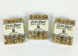 Indigo Wild Zum Bar Goat's Milk Soap Patchouli 3 oz - Lot of 3 Bars