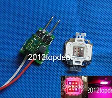 10W Deep Red 660nm + Blue 440nm 7:2 LED +driver Plant Grow Growth lights 10PCS