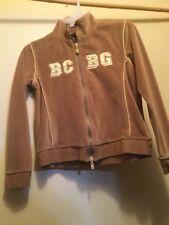 BCBG Girl's 2 Piece Set Active Size M Velour Light Brown