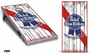 Cornhole Wrap for Bean Bag Toss Game Corn Hole Decal Sticker Pabst PBR 2-Pack