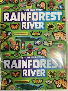 Wendys Kids Meal Sticker Your Story Rainforest River Lot of 2