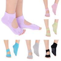 Women Soft Open 5 Toes Yoga Pilates Dance Ballet Toeless Grip Non-Slip Socks New