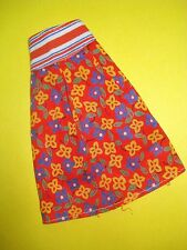 Vtg Barbie 70s Clone Doll Clothes Cross Print Wrap Skirt No label