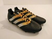 Adidas Ace Mens 16.3 FG / AG Football Boots Black Yellow Size 42.5 EUR 8.5 UK