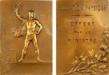 1900 Olympic Games Exposition Paris EDUCATION PHYSIQUE OFFERT Medal Plaque