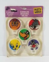 Vintage 90's Looney Tunes 5 Pack Birthday Candles 1995 Bugs Bunny Daffy Duck NEW