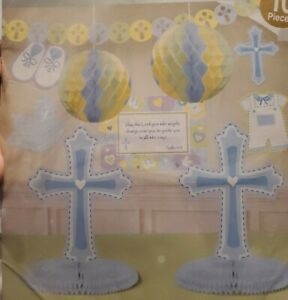 10-Pc Room Decorating Kit for CHRISTENING, BAPTISM OR RELIGIOUS CHURCH PARTY-New