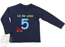 LA Geburtstagsshirt * Ich bin schon 5 * Wahl: MOTIV, WUNSCHNAME, Größe, Farbe