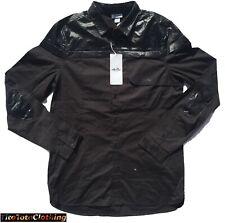 ellesse 'Carro' Mens Button Up Shirt | Black | Size Medium | NWT