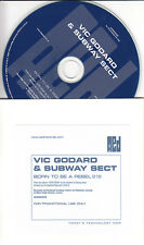 VIC GODARD & THE SUBWAY SECT Born To Be A Rebel UK 1-trk promo CD
