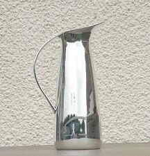More details for mid century modernist scandanavian design silver plated water pitcher jug 20cm