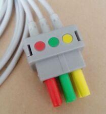 GE-Critikon / Datex Ohmeda / Hellige compatible 3 Lead ECG Leadwire, IEC, Pinch