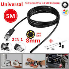 8MM 2-in-1 Android PC HD Endoscope Snake Borescopes USB Inspection Camera 6LED