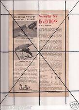 Vintage 1965 Popular Mechanics Magazine Ad A19 Weller Soldering Ronson Varaflame