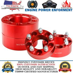 "4PCS 2"" 5x4.5 Red Wheel Spacers Adapters For Ford Mustang Ranger Explorer Jeep"