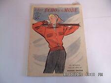 LE PETIT ECHO DE LA MODE N°49 06/12/1953 MODELES CHAUDS POUR SPORT D'HIVER   I33