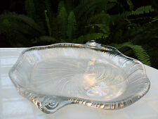 MIKASA STUDIO NOVA Large SEASHELL Heavy CRYSTAL Platter VG Collectable - In Aust