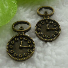 Free Ship 120 pcs bronze plated clocks and watches charms 26x16mm #646