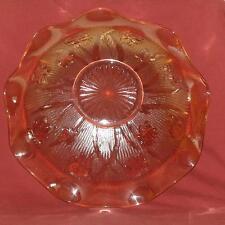 Jeanette Glass Iris And Herringbone Pattern Iridescent Ruffled Bowl