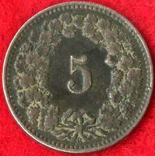 SWITZERLAND - 5 RAPPEN - 1913