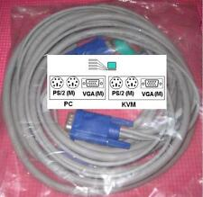 NEW AVOCENT CYBEX DELL HP Compaq Apex 12FT 0J5470 PS2 VGA KVM SWITCH CABLE