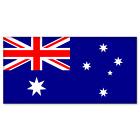 "Australia Australian Flag car bumper sticker 5"" x 4"""