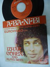IZHAR COHEN - EUROVISION 1978 ISRAEL A BA NI BI - PORTUGAL 45 SINGLE