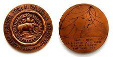 """Medaglia Bronzo """"Biella Medaglia D'Oro Al Valor Militare Per La Resistenza 1980"""