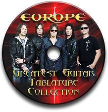 EUROPE METAL ROCK GUITAR TABS TABLATURE SONG BOOK ANTHOLOGY SOFTWARE CD