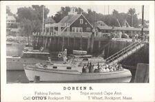 Rockport Ma Fishing Boat Doreen S Postcard