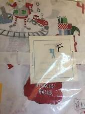 Cotton NEW Pottery Barn Kids 4pc Santa's Workshop FULL Sheet Set Christmas RED