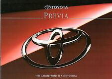 Toyota Previa 1995-96 UK Market Sales Brochure 2.4 GS GL GX