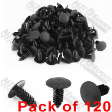 120pc Clips for Hole Plastic Rivets Retainer Fender Bumper Push Pin Fastener 9mm