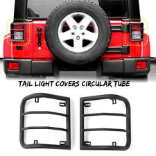 2pcs Metal Tail Light Cover Rear Guard Protector For Jeep Wrangler Jk Jku 07 17 Fits Jeep