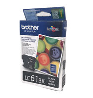 Genuine Brother  LC61 BK Ink Cartridge Exp. 11/20 Brand New
