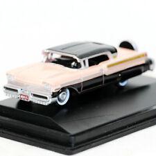 Oxford 1957 Mercury Turnpike Black Pastel Peach (1543) 1/87 Diecast Model car