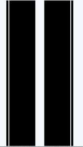 Ford Transit CUSTOM bonnet stripe kit / graphics stickers decals