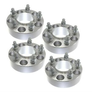 """4x 2"""" 5x5 Hubcentric Wheel Spacers fits 2007-2017 Jeep Wrangler 1/2"""" Studs 5x127"""