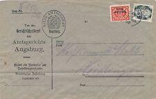 51 / 5 Mark Dienstmarke u.a. - Gerichtszustellung 1922 - portogerecht - selten