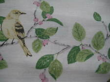 LAURA ASHLEY AVIARY GARDEN APPLE GREEN MIX PATTERNED FABRIC MATERIAL (PER METRE)