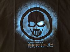 Ghost Recon Future Soldier T-Shirt Black Tom Clancy Large Adult