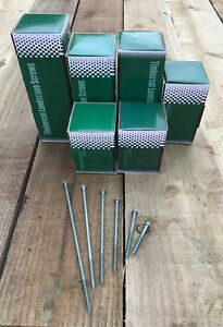 Timber Cut Screws Boxes of 50 & Free Hex, For Railway Sleepers & Timber Joining