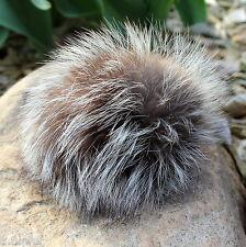 pompon de fourrure renard argenté nature 9-11 diamètre Puschel bonnet sac à dos