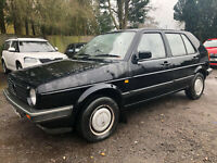 1987 (E) VOLKSWAGEN GOLF CL 4+E 1.6  NO RESERVE VERY LOW MILES