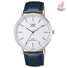 New CITIZEN Q&Q Analog Watches White/Blue Leather Belt Men's QZ02J301 F/S