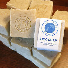 Vegan Organic Dog Soap / Bar Shampoo BIG 7 oz bar, Organic Oatmeal, Olive & Coc