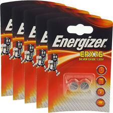 10 x Energizer EPX76 SR44 SR44SW 1.5V Silver Oxide Batteries