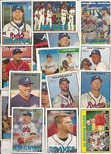 2016 Topps Heritage Atlanta Braves 16 Card Master Team Set w/ SPs & Inserts